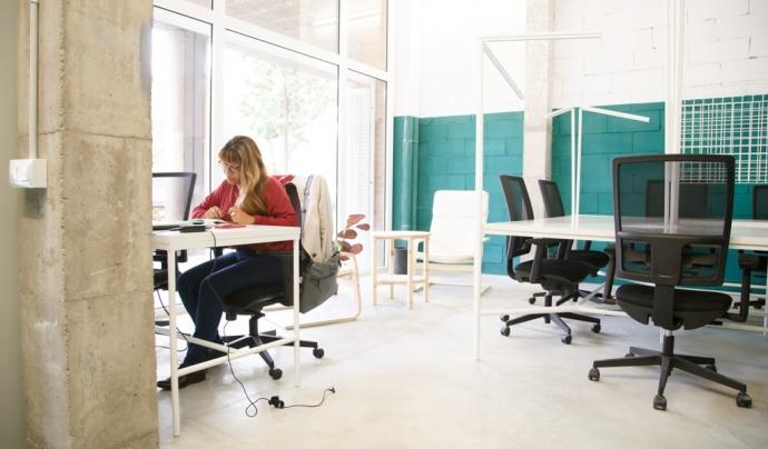 Sinèrgics es diferencia d'altres espais de coworking perquè les persones professionals que s'hi allotgen col·laboren amb entitats del barri