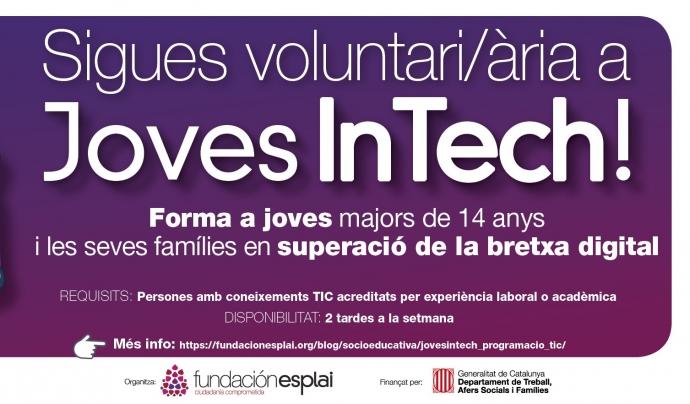 Per assolir aquest objectiu es comptarà amb la participació de persones voluntàries a tres centres educatius de secundària de la província de Barcelona. Font: Fundación Esplai. Font: Font: Fundación Esplai.