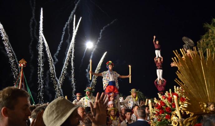Sitges, malgrat la proximitat amb Vilanova té una Festa Major ben potent, i una patrona compartida amb tarragona Font: Ajuntament de Sitges