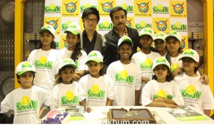 Infants amb els quals col·labora Smile Foundation, una organització a l'Índia.