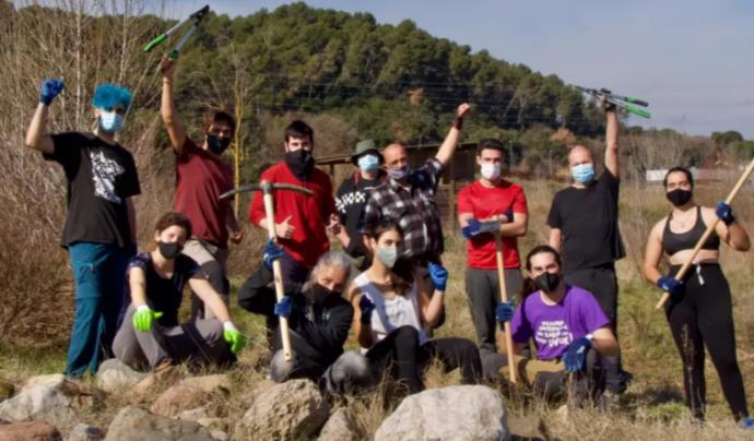 Jornada de voluntariat ambiental a Can Dunyó (Vallès Oriental) durant el febrer del 2021. Font: Societat Catalana d'Herpetologia