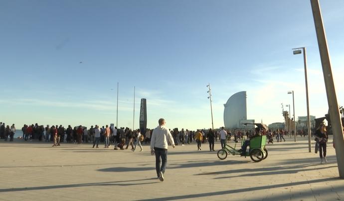 L'acció s'inicia a la plaça del Mar i finalitza a l'espigó del gas. Font: LaviniaNext