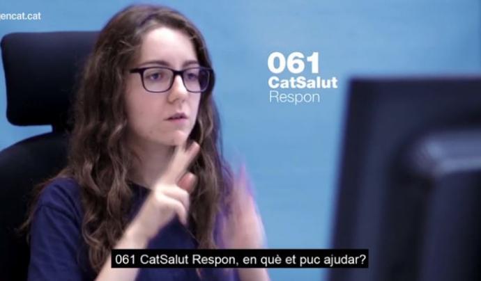 El Servei 061 CatSalut Respon accessible des d'ara també en llengua de signes catalana (LSC). Font: Gencat.cat