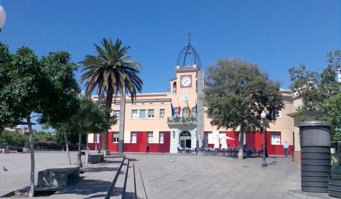 Imatge de la plaça de l'Ajuntament de Santa Coloma de Gramenet.  Font: Ajuntament de Santa Coloma de Gramenet