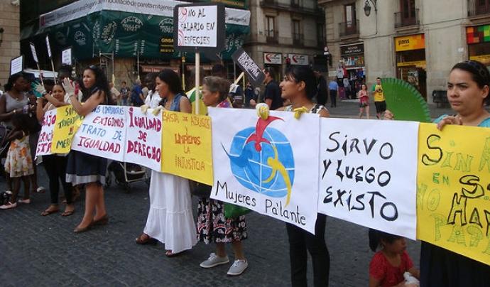 Manifestació de Mujeres Pa'lante Font: Mujeres Pa'lante