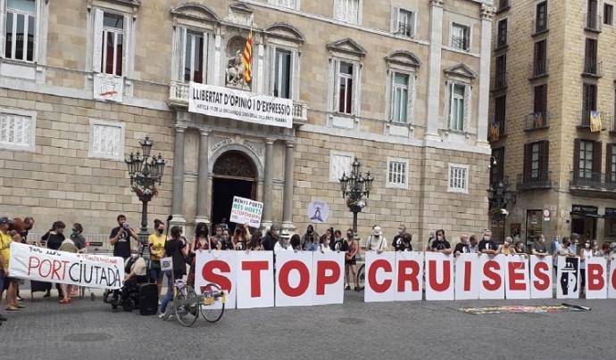 Hi ha hagut mobilitzacions en contra els creuers a sis ciutats costaneres d'Espanya. Font: Ecologistes en Acció