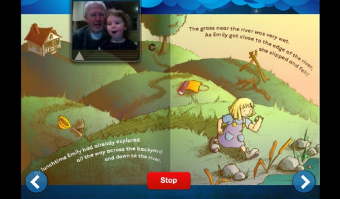Story Before Bed, l'aplicació que permet als avis llegir un conte als seus néts. Font: Itunes