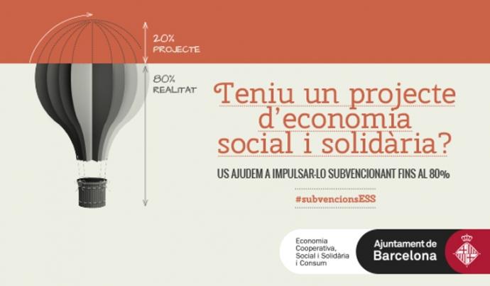 Es llença una nova convocatòria de subvencions per impulsar projectes d'economia social i solidària.