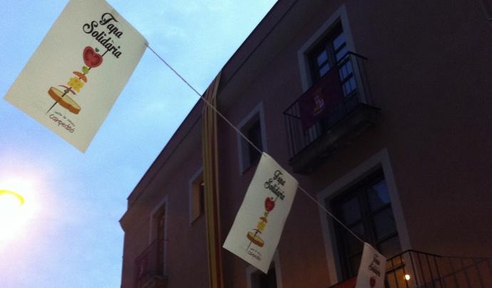 Banderola 'Tapa solidària' Font: Fundació Can Pedró