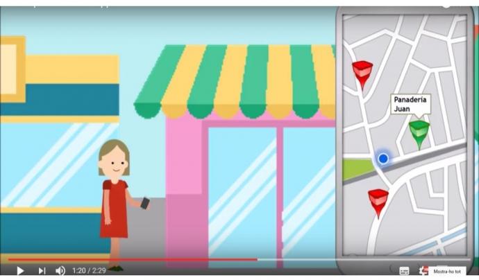 Les persones usuàries troben per geolocalització a la app els productes ofertats (imatge: tapperapp)