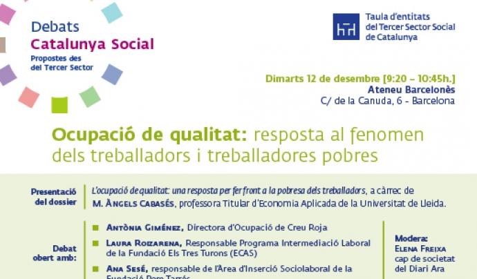 L'ocupació de qualitat: una resposta per fer front a l'augment de la pobresa dels treballadors