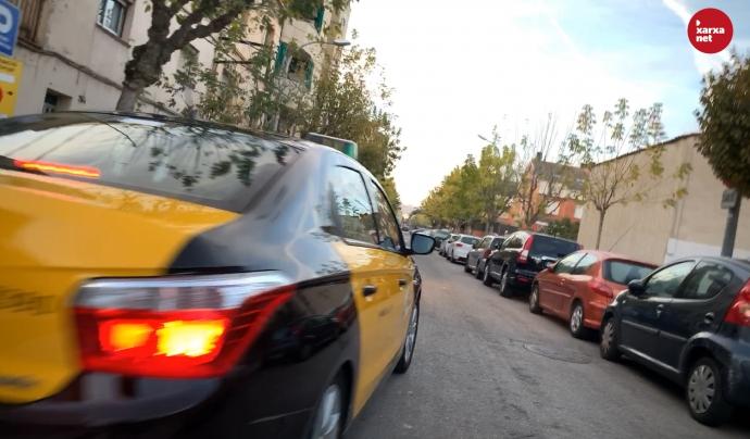 Els taxistes aprofiten el seu dia de descans intersetmanal per fer carreres gratuïtes. Font: Míriam Pagès