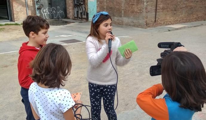 Teleduca realitza projectes de comunicació i educació amb infants, entre altres. Font: Teleduca