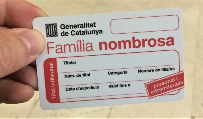 FANOC demana a Afers Socials prorrogar un any automàticament els títols de família nombrosa durant l'estat d'alarma. Font: FANOC. Font: FANOC