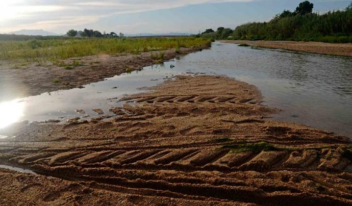 La Tordera és un riu que pateix d'escassetat d'aigua de forma força freqüent. Aquesta imatge és  de finals de maig. Font: Ignasi Robleda