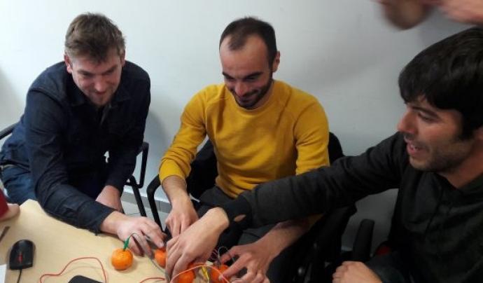 Sessió de formació de persones formadores a Atenes al mes de març Font: Digital Welcome