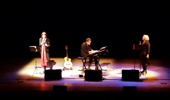 Roig, recital d'homenatge a Montserrat Roig (font: Comèdia).