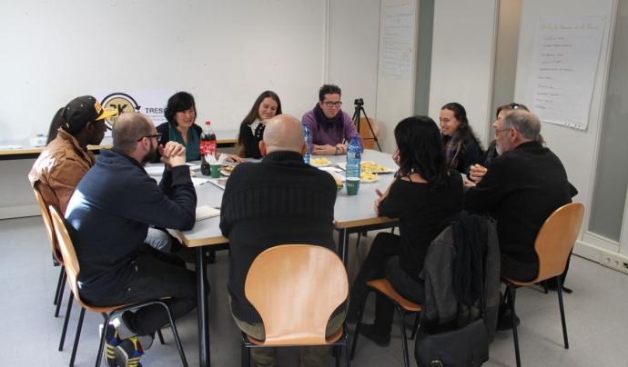 Reunió de treball de les entitats membres del projecte Tresca Europe. Font: Fundación Esplai