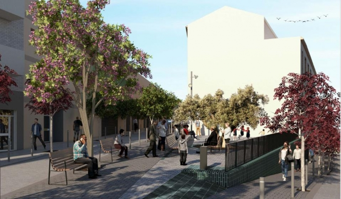L'encreuament s'anivellarà per aconseguir un espai més espaiós i útil. Font: Ajuntament de Barcelona
