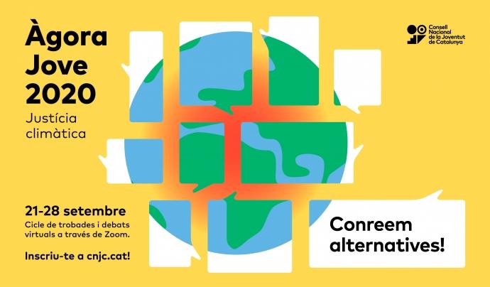 Cartell de l'Àgora Jove 2020 Font: Consell Nacional de Joventut de Catalunya