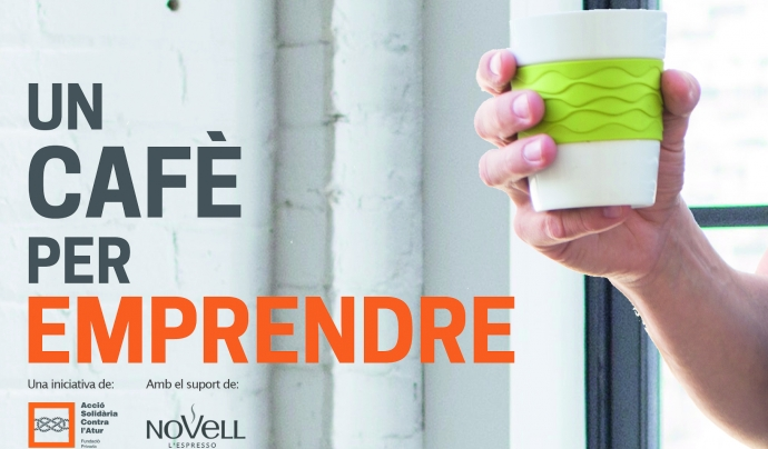 Imatge corporativa de la campanya 'Un cafè per emprendre'. Font: ASCA