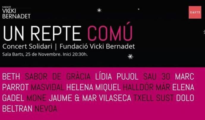 La Fundació Vicki Bernadet va realitzar un concert solidari a la Sala BARTS. Font: Fundació Vicki Bernadet