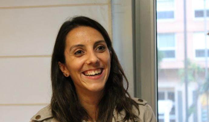 Marina Claverias, responsable de voluntariat de l'Associació Quilòmetre Zero. Font: Xarxa Cooperació al Desenvolupament