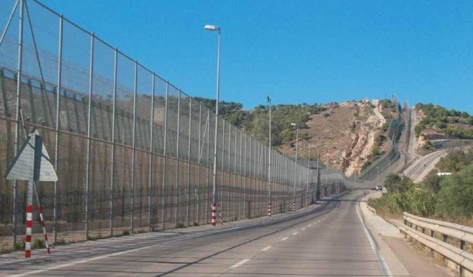 Barrera fronterera a Melilla. Font: