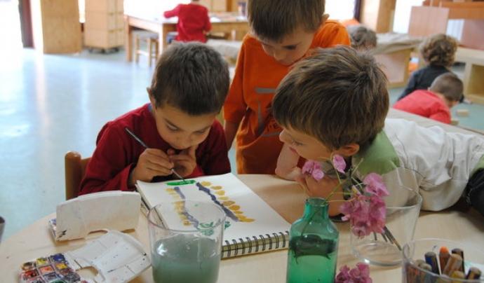 Infants a l'Escola El Martinet