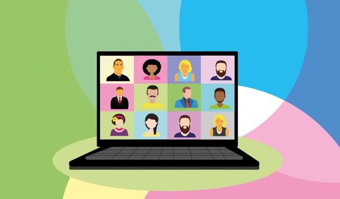 Il·lustració d'una videoconferència Font: Pixabay