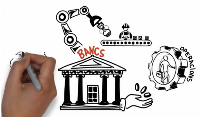El vídeo 'Banca Armada: les entitats financeres i el negoci de la guerra' està disponible gratuïtament a Internet Font: Centre Delàs