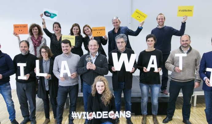 Celebrant el començament d'aquest projecte a Viladecans
