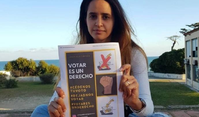 safia reivindica el dret a votar de les persones immigrants. Font: Cadena Ser