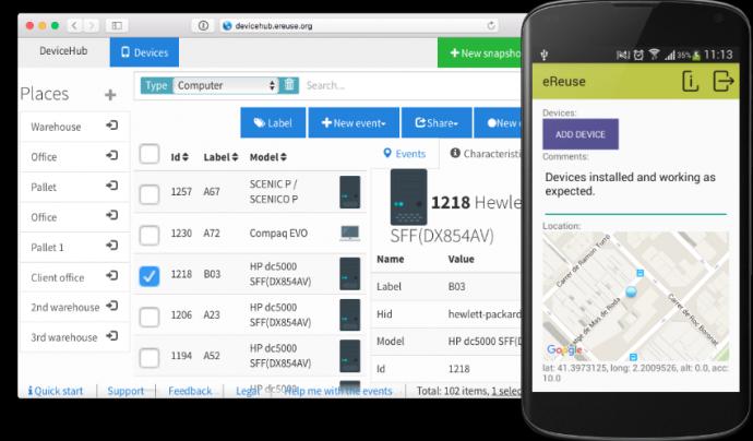 eReuse ha desenvolupat diverses aplicacions perquè els circuits locals les utilitzin.