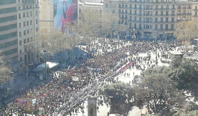 Primera manifestació internacional de F4F el 15 de març a Barcelona Font: Fridays For Future BCN