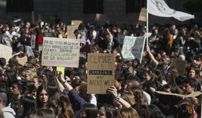 Mobilització de Fridays For Future Barcelona durant el març de 2020.  Font: Fridays For Future Barcelona