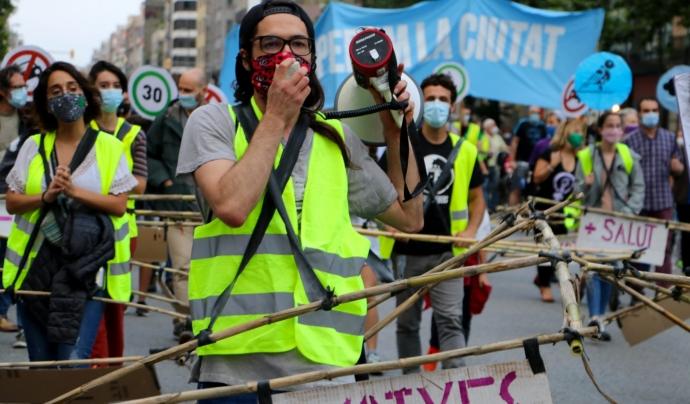 Manifestació del juny de 2020 en denúncia de l'emergència climàtica. Font: Joana Bregolat
