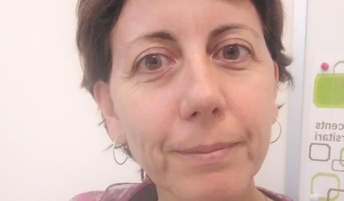 Carme Rovira, membre de la junta de l'associació Espiral i col·laboradora de Technovation Girls. Font: Carme Rovira