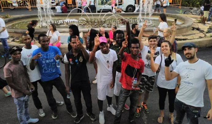 Algunes de les persones participants a la iniciativa que va començar l'1 de setembre Font: Fundació Cepaim