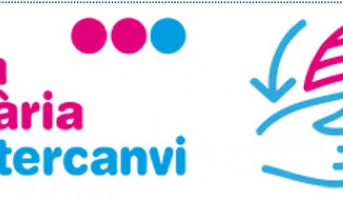 Logotip de la Xarxa d'Intercanvi i solidària de Sarrià-Sant Gervasi. Font: Xarxa d'Intercanvi i solidària de Sarrià-Sant Gervasi Font: