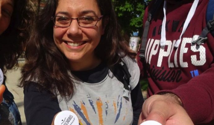 Sílvia Torralba du més de 12 anys com a voluntària del Moviment Quart Món. Font: Sílvia Torralba