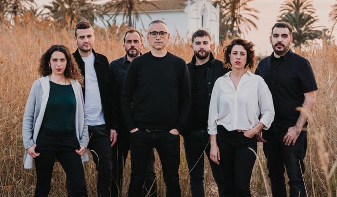 Xavi Sarrià i la seva banda Font: Claudia Marconell