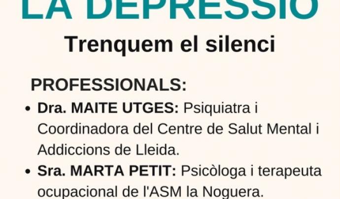 """Cartell xerrada """"La depressió"""""""