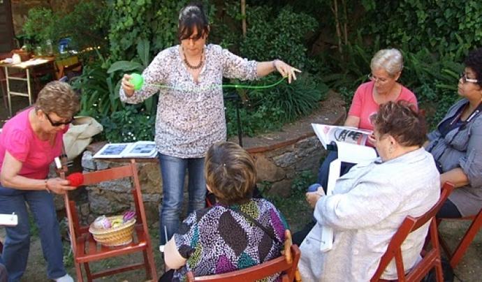 Treballant amb la llana a la XIC de Girona Font: XIC de Girona