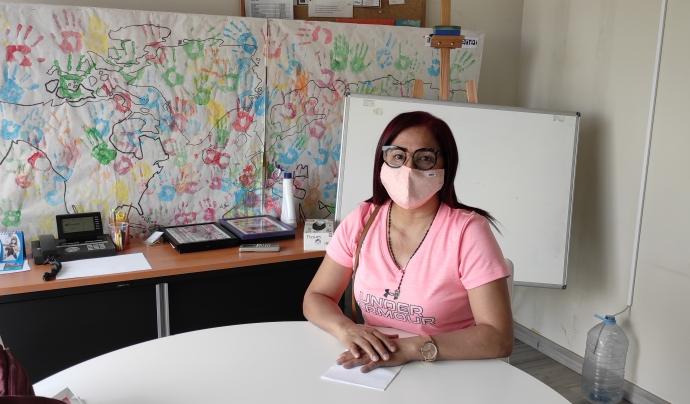 La Yajaira Camacho va arribar de Veneçuela l'any 2018 i des de llavors busca aconseguir l'arrelament social. Font: Sandra Pulido