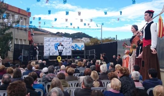 Imatge de l'acte de celebració dels 50 anys de l'entitat Font: Associació Montseny Guilleries