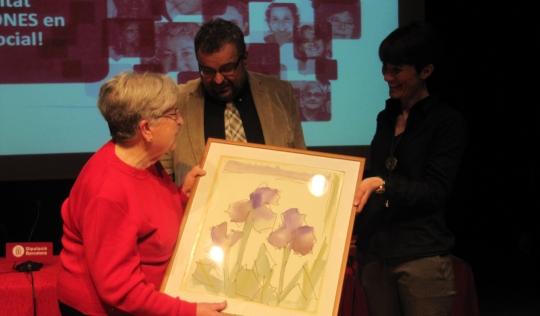 Imatge de l'entrega del premi Aspàsia 2013. Font: DDiPPAS