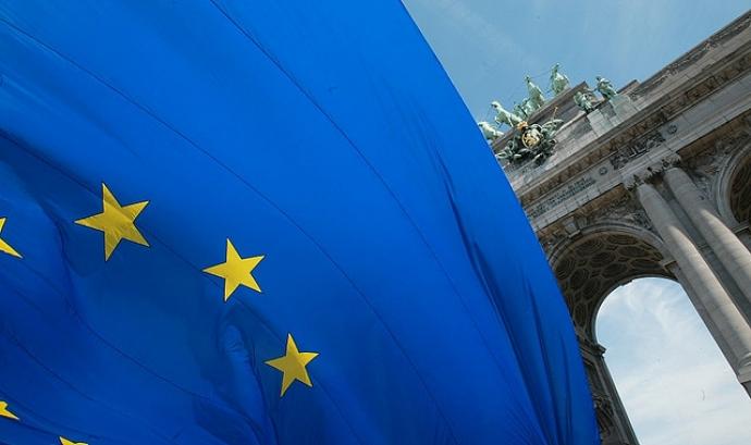 Bandera europea a Brussel·les. Flickr: Rock Cohen
