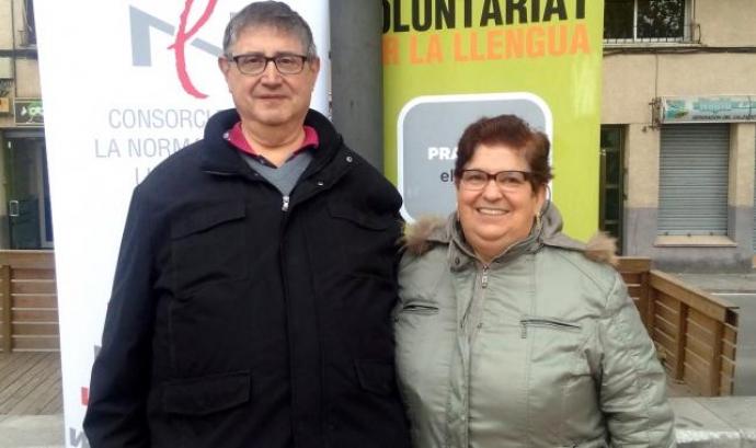 Una parella lingüística que ha participat al programa