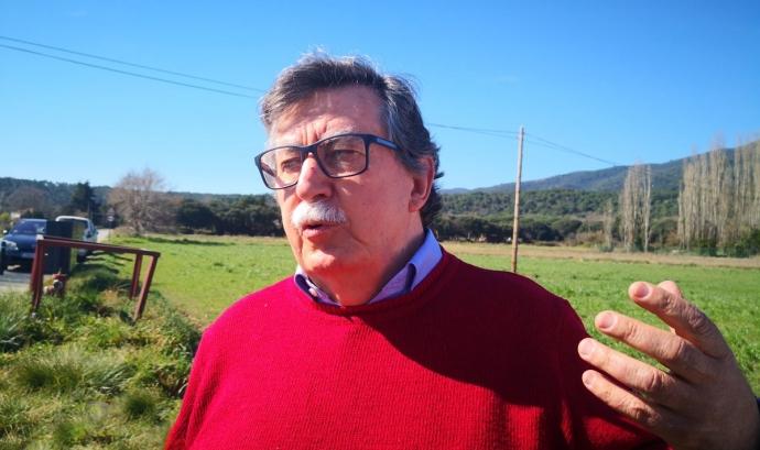 Carles Lumeras és president de la plataforma SOS Vallès i de la Coordinadora per a la Salvaguarda del Montseny. Font: Nació Digital
